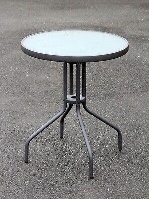 Balkontisch Terassentisch rund Ø 60 cm Metall Tischplatte ...
