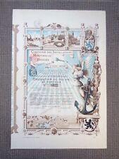 Action Compagnie des installations Maritimes de Bruges Obligation de 500 Fr 1909
