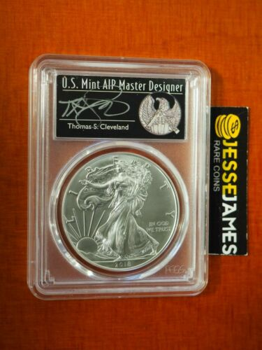 SILVER EAGLE PCGS MS70 CLEVELAND FIRST DAY OF ISSUE FREEDOM FDI POP 150 W 2018