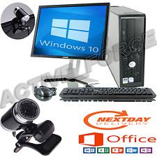 Dell Dual Core para desktop PC en torre tft ordenador con Windows 10 Wifi 4GB 1T.B HDD