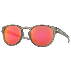 Oakley-Lunettes-Loquet-Mat-Gris-Encre-Ruby-Iridium