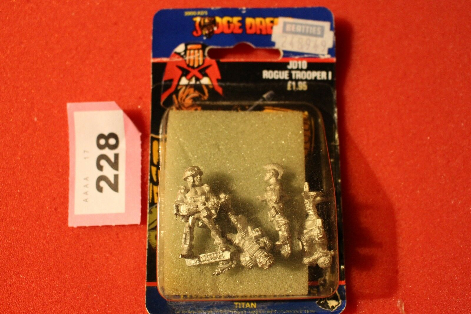 CITTADELLA JD10 GIUDICE DrossoD Rogue era Troopers 4 FIGURE IN METALLO NUOVO CON SCATOLA NUOVO fuori catalogo 200 D.C.