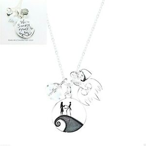 NIGHTMARE-BEFORE-CHRISTMAS-DISNEY-CHARM-STERLING-SILVER-NECKLACE-CRYSTAL-NBC