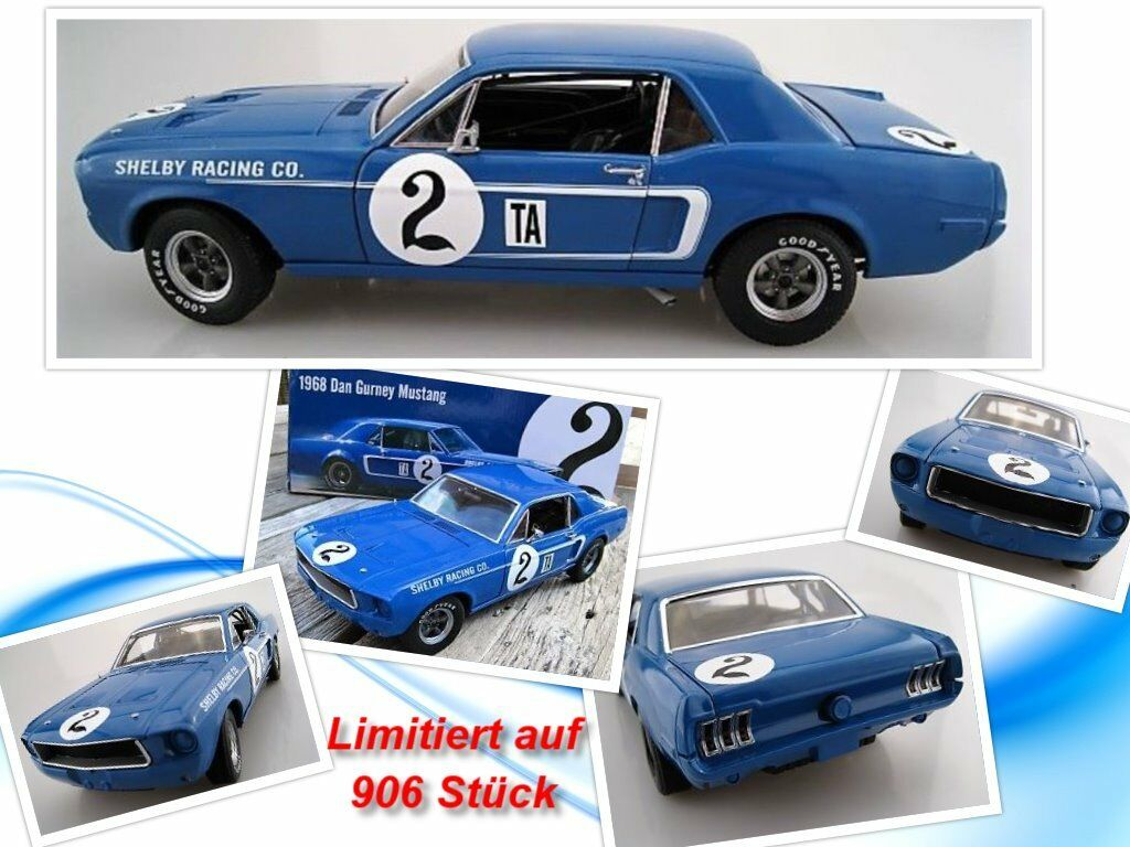 Dan Gurney Mustang 1968 limited to 908  pieces GMP ACME 1 18 OVP nouveau  grand choix