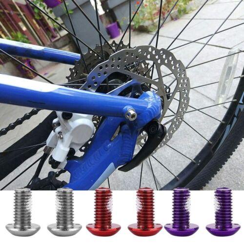 12pcs Bike Bicycle M5x10mm Head Disc Brake Rotors Bolt Screw Nut Torx T25 A