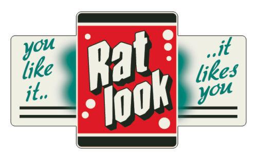 hoodride 130mm RAT LOOK vintage sticker retro design NEW!