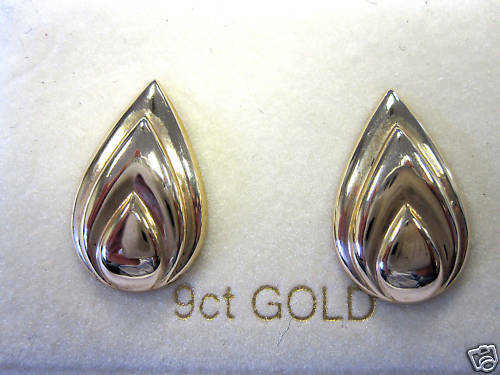 9ct gold FANCY STUD EARRINGS, New