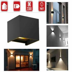 Uk Modern Led Wall Lights Up Down Cube Sconce Fixture Lighting Indoor Outdoor Ebay
