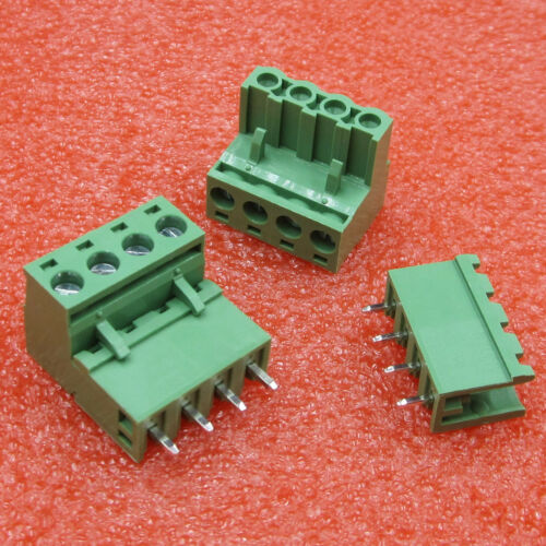 5Pcs KF2EDGK KF-4P Right Angle Plug-in Terminal Connector 5.08mm Pitch