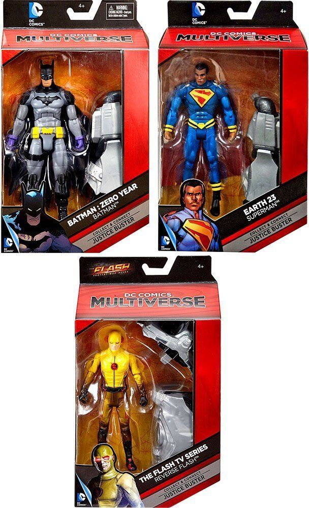 DC Comics  Batuomo, Reverse Flash & Earth 23 Superuomo 6 Multiverse Set of 3