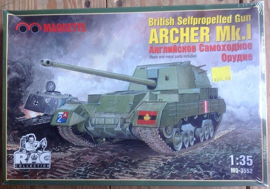 Marquette Models 1 35 British Selfpropelled Gun Archer Mk.I Mq-3552 New Rare