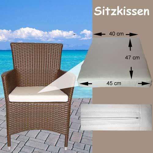 Mobilier de jardin coussins de rembourrage coussins oreiller coussin d/'assise salon rotin chaise