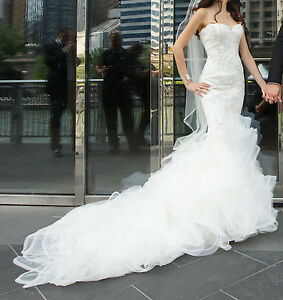 Image Is Loading Matthew Christopher Wedding Dress Brigitte Crystal Amp Pearl