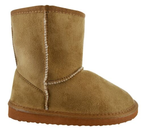 CHILDRENS KIDS GIRLS WINTER BOOTS ANKLE FAUX FUR LINED WARM SNOW COMFY SHOES SZ