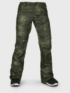 Volcom Species Stretch Pant Camo Snowboard Women Trouser  Size Small RRP £239