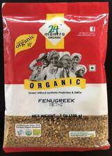 24 Fenugreek Mantra Organic Seeds (7 Oz) USDA Certified Whole Methi