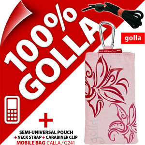 New-Golla-Pink-Phone-Case-Cover-Pouch-Bag-for-fits-Nokia-Samsung-E1200-E1270