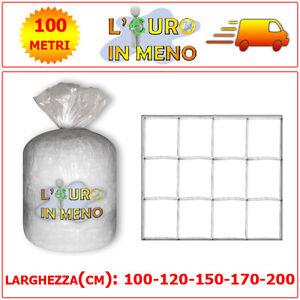 RETE-PER-RAMPICANTI-BIANCA-100M-x-100-120-150-170-200-cm-SOSTEGNO-ORTAGGI-FIORI