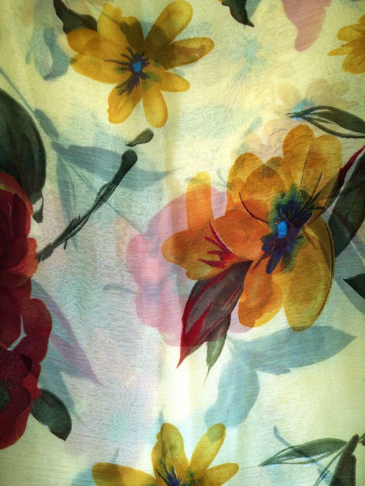 Chiffon saree with beautiful floral print