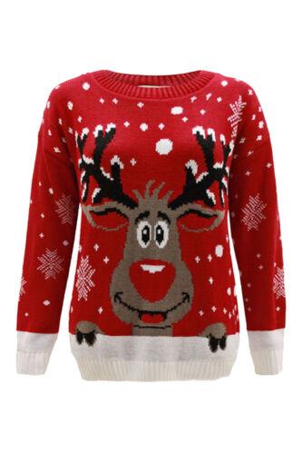 Boys Girls Childrens Christmas Kids Xmas Novelty Winter Sweater Retro Jumper TOP
