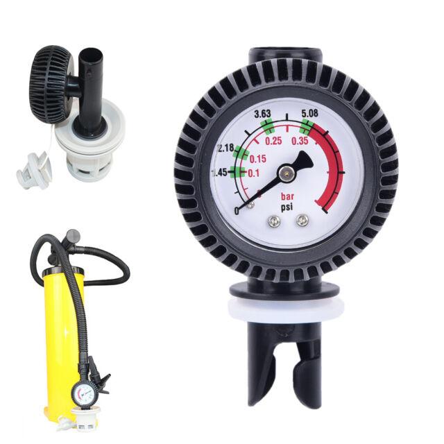 Inflatable boat air pressure gauge air connector for kayak Raft sup board^ GQ