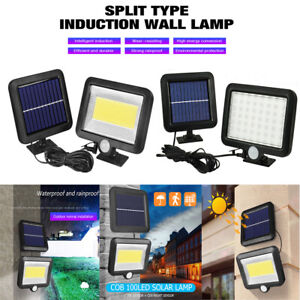 56-100-Led-Solar-Sensor-De-Movimiento-Luz-De-Pared-Patio-al-Aire-Libre-Lampara-de-seguridad