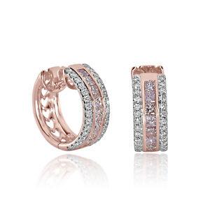 9381e84f3ffb 2.20ct Pink Diamonds Earrings 18K All Natural Princess Cut Rose Gold ...