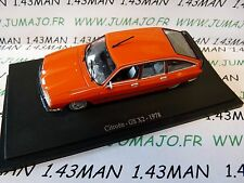 voiture 1/43 atlas traction NOREV  : GS  X2 1978 orange