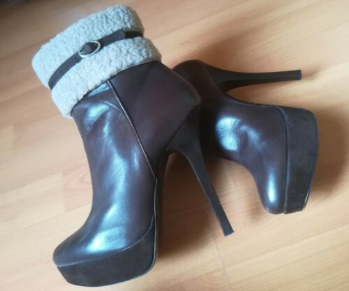 Vera Nappa Islo Boots Ankle Made Tacco Italy In 38 Tronchetti Spillo Pelle Lusso YYIng