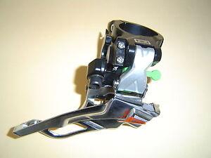 Shimano-Deore-XT-3-x-10-Deragliatore-fd-m771-Argento-Nero-34-9-Dual-Pull-NUOVO