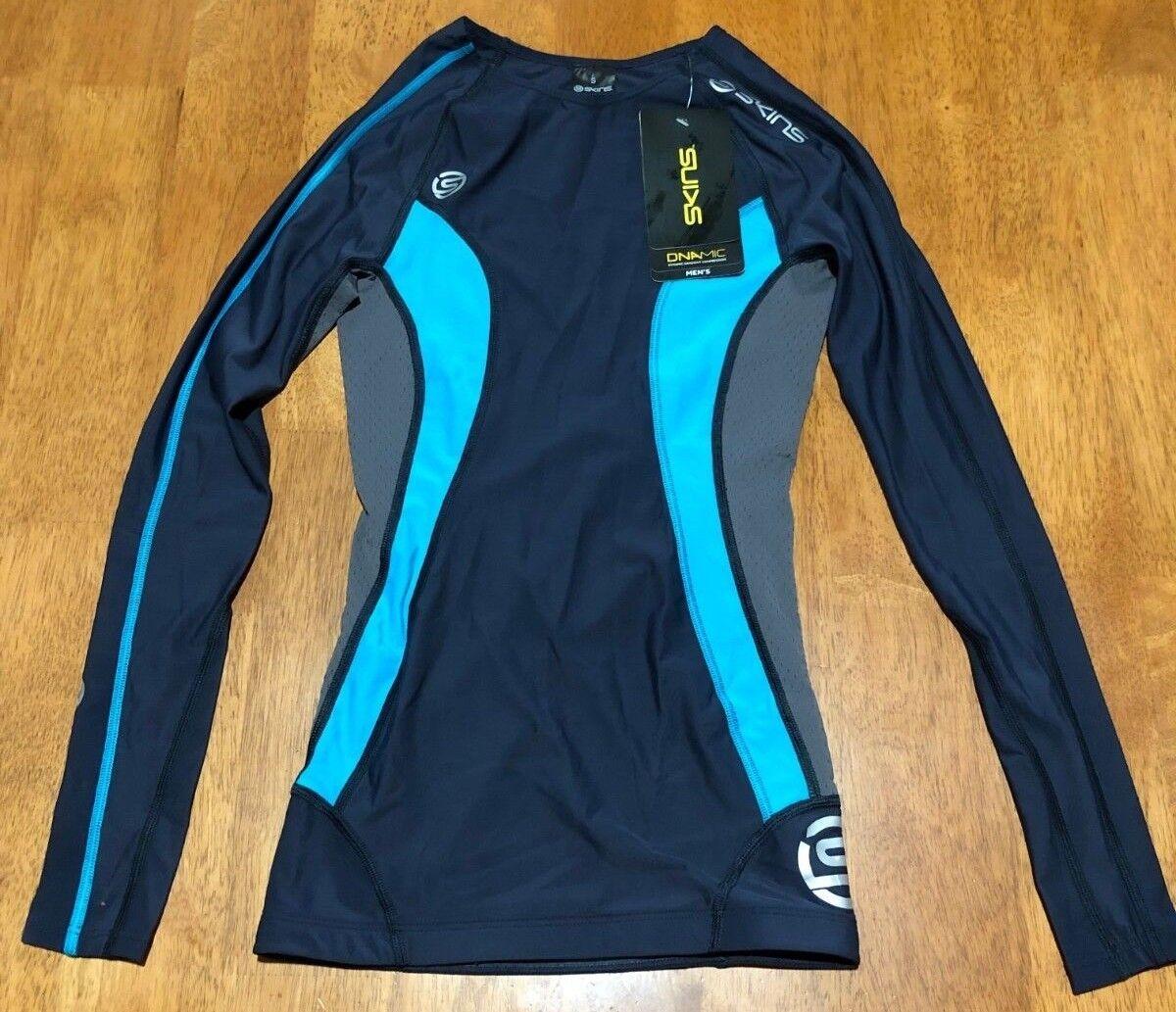 Skins DNAmic  Herren Sports Compression Long Sleeve ShirtSmall Größe Ash Colour