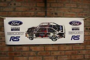 Ford-Escort-MK-2-RS-Lombard-RAC-Rally-grosse-PVC-Arbeit-Shop-Banner-Garage