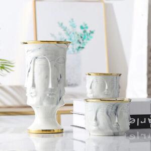 Marbling Flower Pot Ceramic Planter Pots with Hole Garden Home decoration Vase