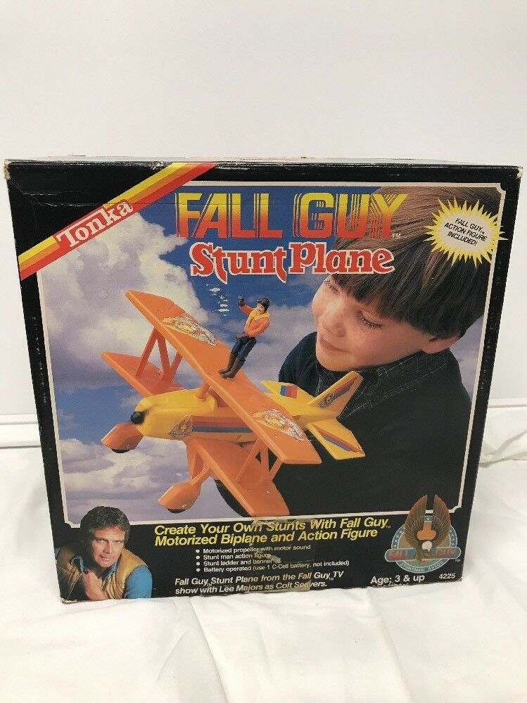 1983 Tonka Fall Guy Stunt Plane Lee Majors As Colt Seaver Not Complete