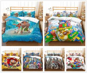 3D-Super-Mario-Bros-Disney-Moana-Kids-Bedding-Set-Duvet-Cover-Quilt-Doona-Cover