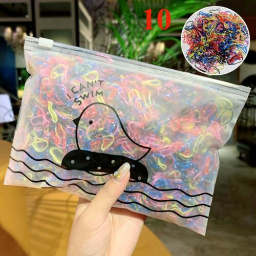 1000pcs//Pack Girls Small Disposable Rubber Bands Ponytail Elastic Hair Bands