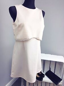 71a98559f2d ASOS PETITE Scuba Crop Top With Embellished Trim Mini Dress (AS-7/2 ...