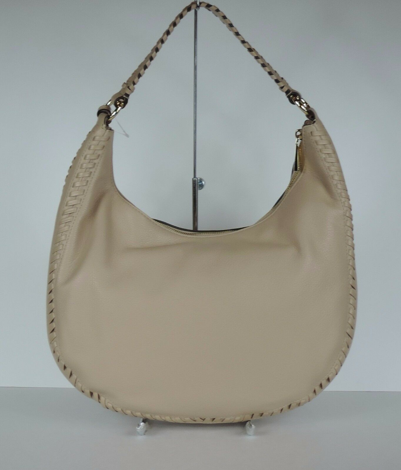 5c3720bc9dff Michael Kors Lauryn Large MK Signature Tassel Shoulder Bag Natural Fawn for  sale online | eBay