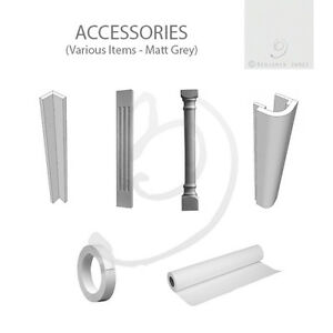 MATT GREY Kitchen ACCESSORIES - Superb Quality Vinyl Wrapped 18mm