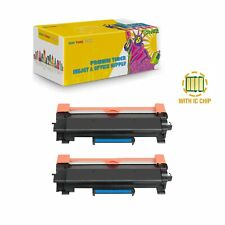 2PK TN760 With CHip Toner for Brother HL-L2350DW HL-L2390DW HL-L2395DW