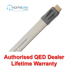 QED Performance EFLEX HDMI Lead - 4k 3D Thin Flat Slim - QE7402 - 2m White