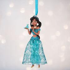 Disney Store Aladdin Princess Jasmine Sketchbook Christmas Ornament Figure NWT