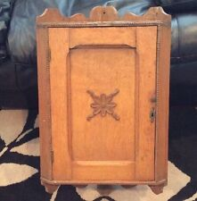 Antique Oak HANGING CORNER CABINET/cupboard removedFrom Historic Charleston Home