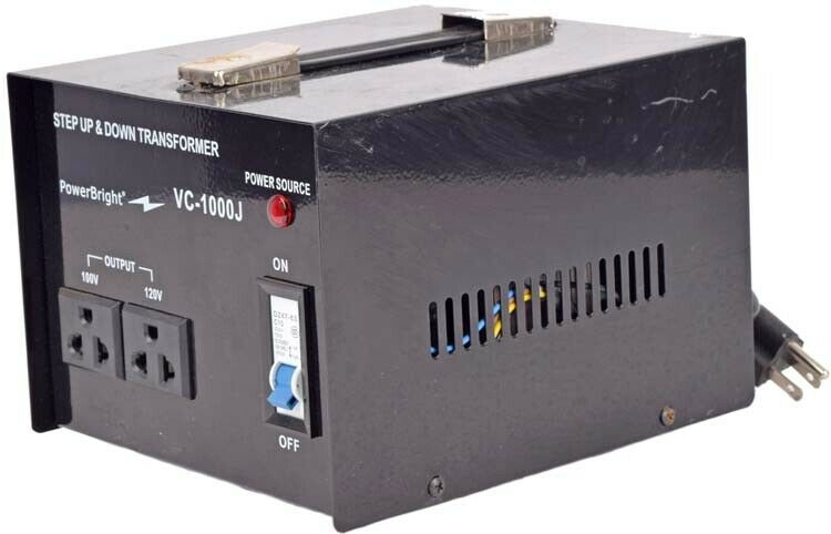 PowerBright 1000W Step Up /& Down Japanese Transformer Can be Used in 120 Volt Countries and 100 Volt Countries Power ON//Off Switch Convert from 120V to 100V and 100V to 120V