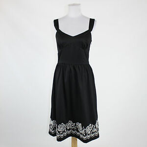85d4806e573 Image is loading Black-white-embroidered-cotton-ANN-TAYLOR-LOFT-sleeveless-