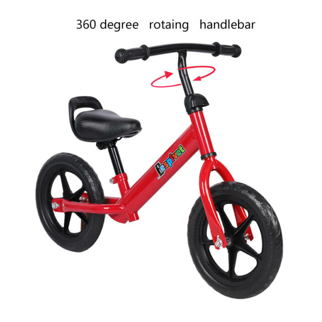 Balance Bike Kids Running Training Boys Girls First Red Bicycle For 2 Years Old