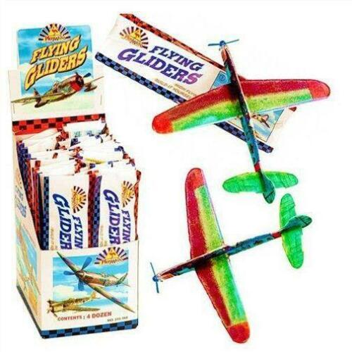 6 x Flying Glider Planes Boys Kids Party Bag Loot Birthday Great Retro Toy!
