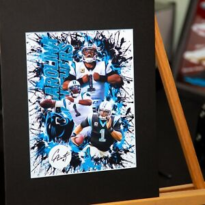 best loved d6699 aea2b Details about Carolina Panthers - Cam Newton #1 - Original Artwork -  Contemporary Art