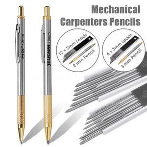 2mm-3mm-Leads-Mechanical-Carpenters-Pencils-Builders-Tradesman-Clutch-Pencils