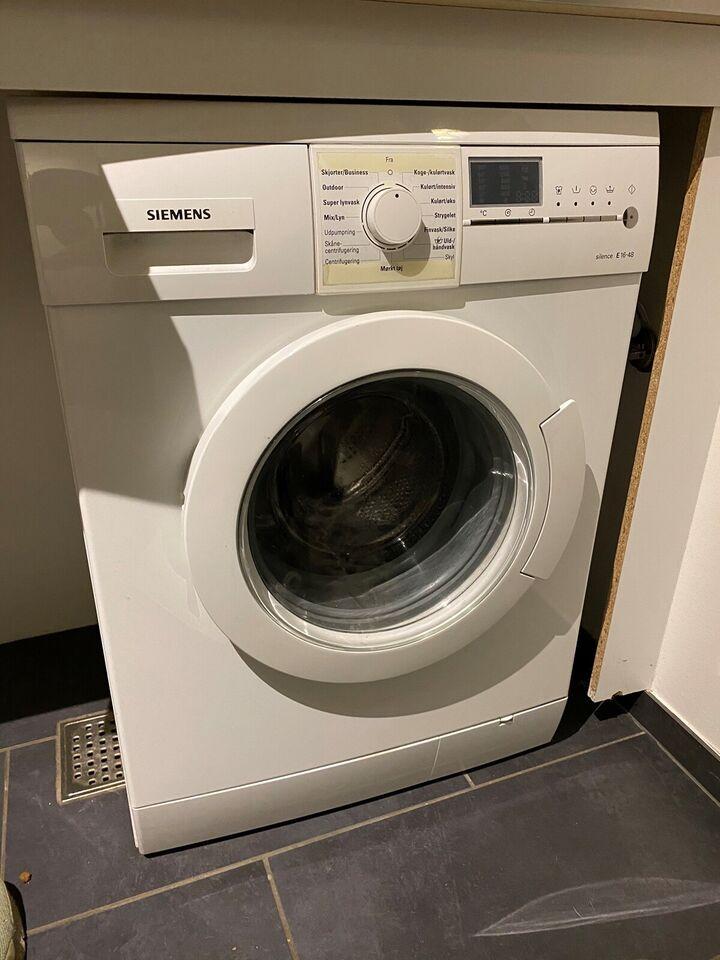 Siemens vaskemaskine, E16-48, frontbetjent